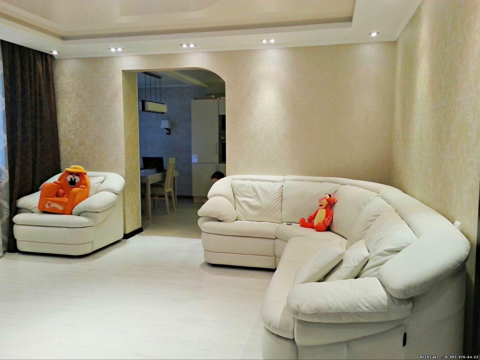 Дизайн двухкомнатной квартиры 100 23